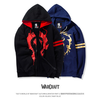 Size M-3XL TEE7 Brand Hoodies Men Print Hot Game WOW Male Hooded Sweatshirt Cotton Thick Jackets Winterjas Mannen Christmas Gift свитшот print bar wow