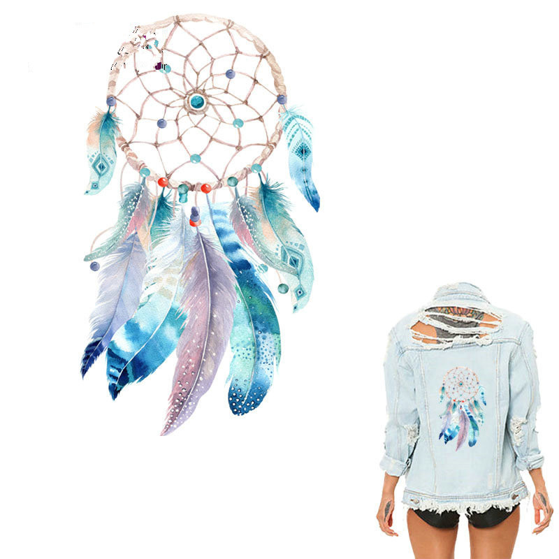 Boho Dreamcatcher Iron On Transfers Clothes Decoration Diy Accessory Washable New Design Print On T-Shirt Clothes <font><b>Stickers</b></font> image