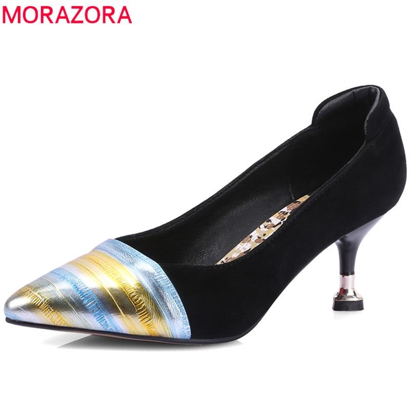Altos Morazora Zapatos Partido Del Mixed Bombas Punta Color Mujeres qfq1wTxv