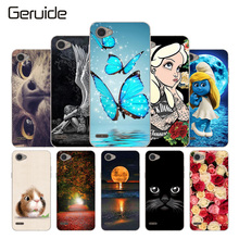 Geruide Soft Silicon Case For LG Q6 5.5″ Painting Flowers Pattern Cover for LG Q6 Plus Q6+ LG Q6a M700 M700N M700A LG Q6 Alpha
