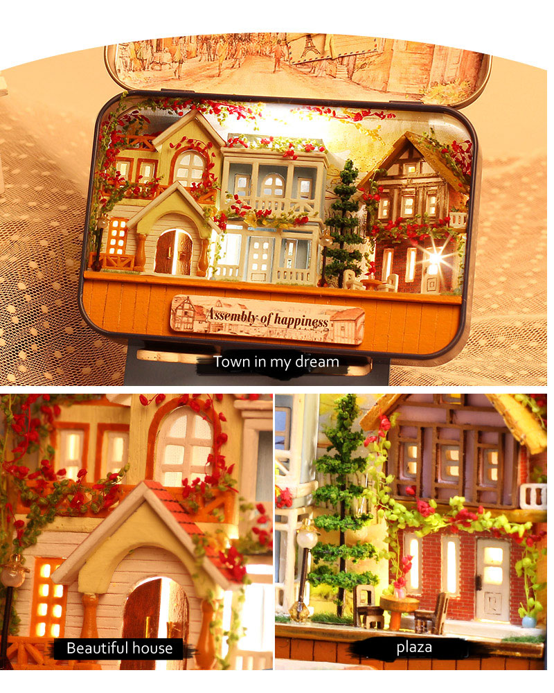 Assembly of Happiness Box Theatre DIY 3D Dollhouse