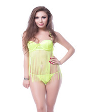 RW7892 Fringed Halter backless sex clothes with bowknot see through lingerie babrdoll with tassel erotic design sexy nightwear