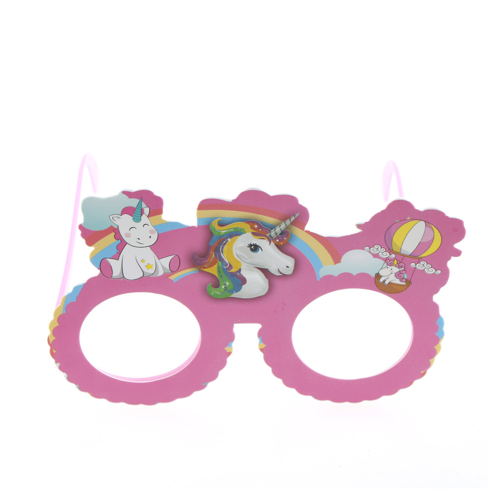 Funny Shiny Pink Unicorn Costume Glasses Sunglasses Mask Photobooth ...
