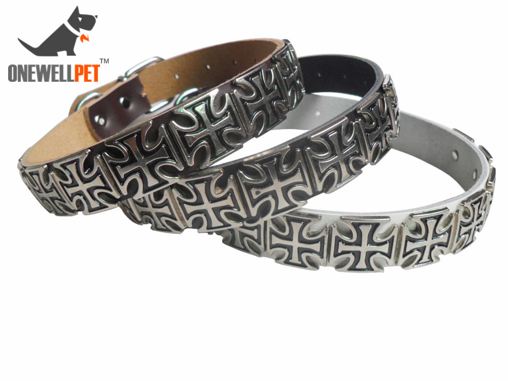Onewellpet Brand Dermis Pet Collar Containing Metal With Size Of S M L For Doberman And Other Small To Large Pet Dogs