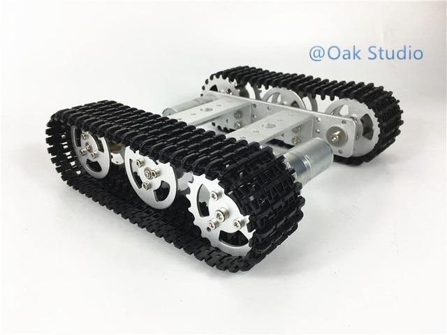 T101 mini Tank car,12V/330rpm motor,Aluminum Alloy Chassis/Frame for ...