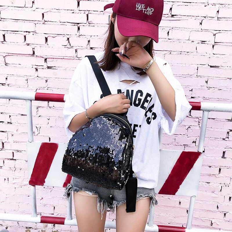 Backpacks women Korean mini 2018 new sequined shell fashion trend women go with small backpacks travel backpack 70