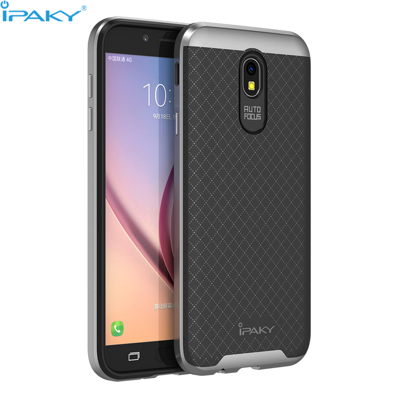 iPaky Original Brand For Samsung Galaxy J5 2017 Case J7 2017 Cover PC Frame+Silicone Hybrid Back Cellphone Case for J530/J730