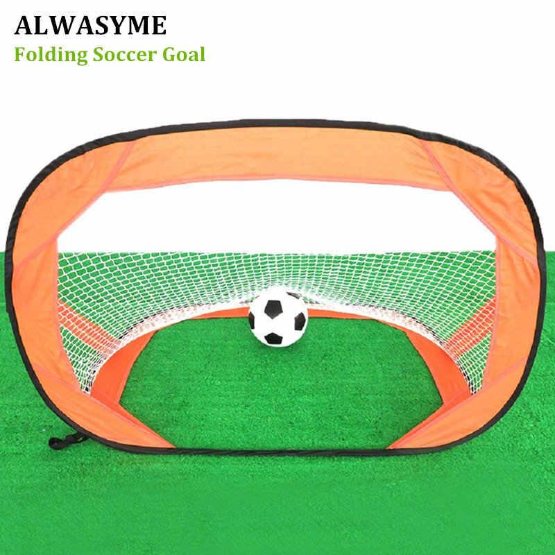 cd01cb85b ALWAYSME Portable Foldable Pop Up Soccer Goal Kicking Door Football Traning  Device For Kids & Teenage