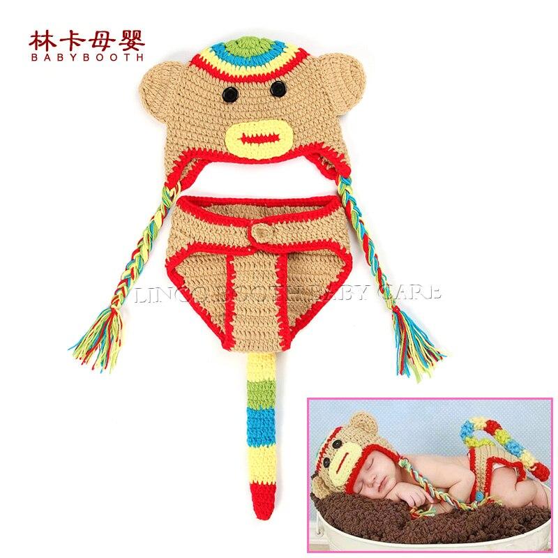 ᗗDiseño del mono bebé recién nacido traje de dibujos animados hecho ...