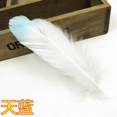 Diy 쥬얼리 브로치 귀걸이 모자 장식에 대 한 골드 파우더 깃털과 다채로운 염색 거 위 깃털 15-20 cm