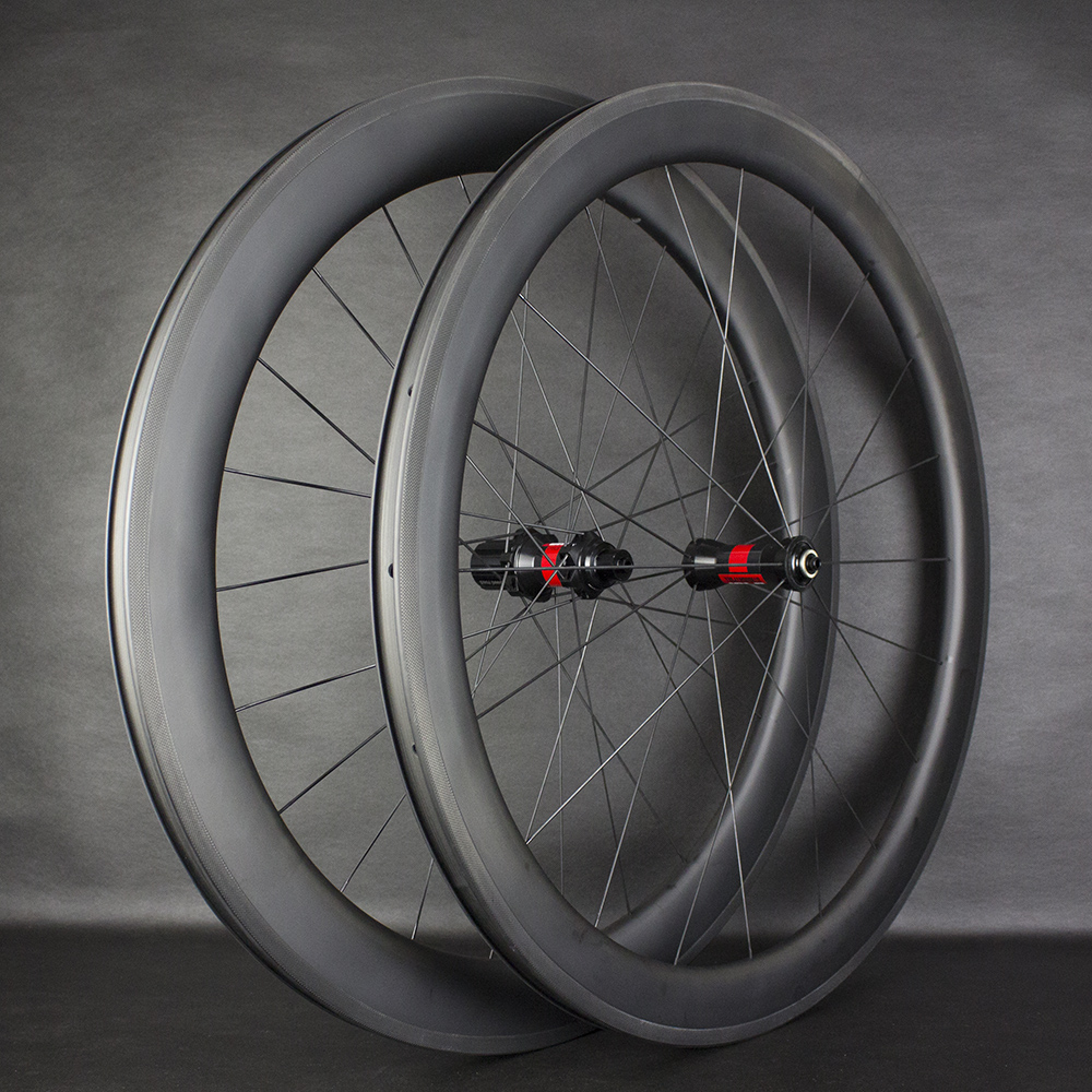 High End T700 Carbon Road 50mm Clincher Wheelset Super Great Performance 240 Wheelset Straight pull AERO