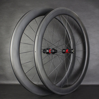 High End T700 Carbon Road 50mm Clincher Wheelset Super Great Performance Wheelset Straight pull AERO Spokes