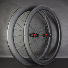 High End T700 Carbon Road 50mm Clincher Wheelset Super Great Performance 240 Wheelset Straight pull AERO Spokes(China)