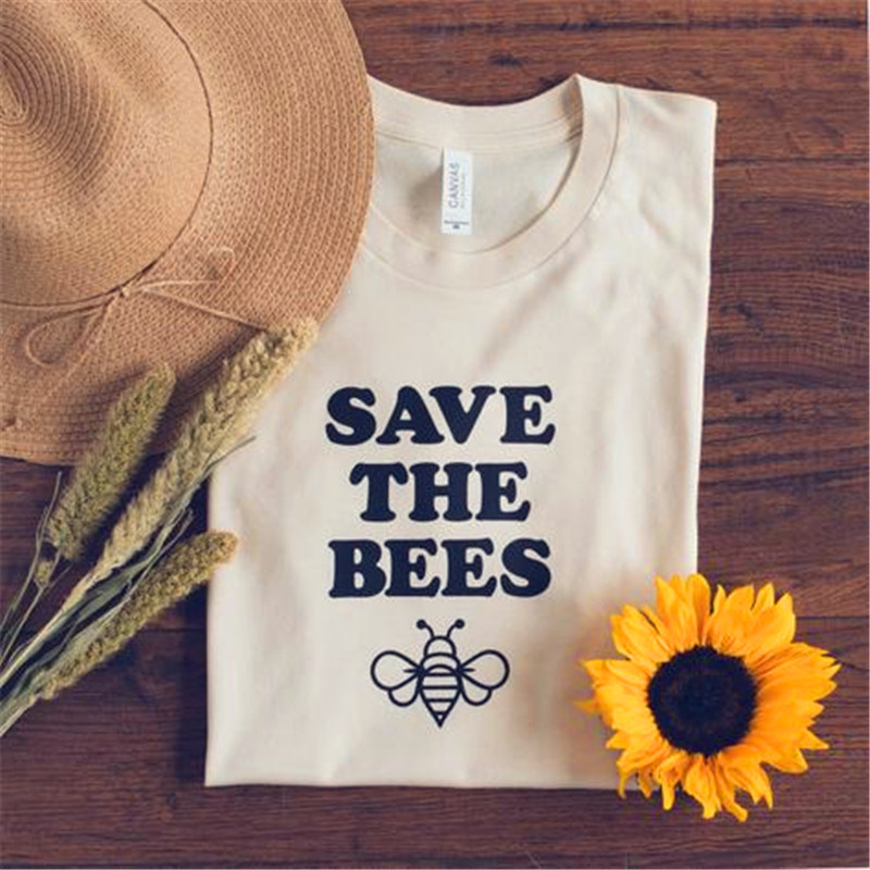 2019 Save the Bees Graphic Tee, Honeybee Tee, Bumble Bee Shirt, Beekeeper Shirt, Bee Lovers, Save the Bee, Beehive, Honey, Shirts, Bees, Bee Gift _ Pretty - 1 (1)