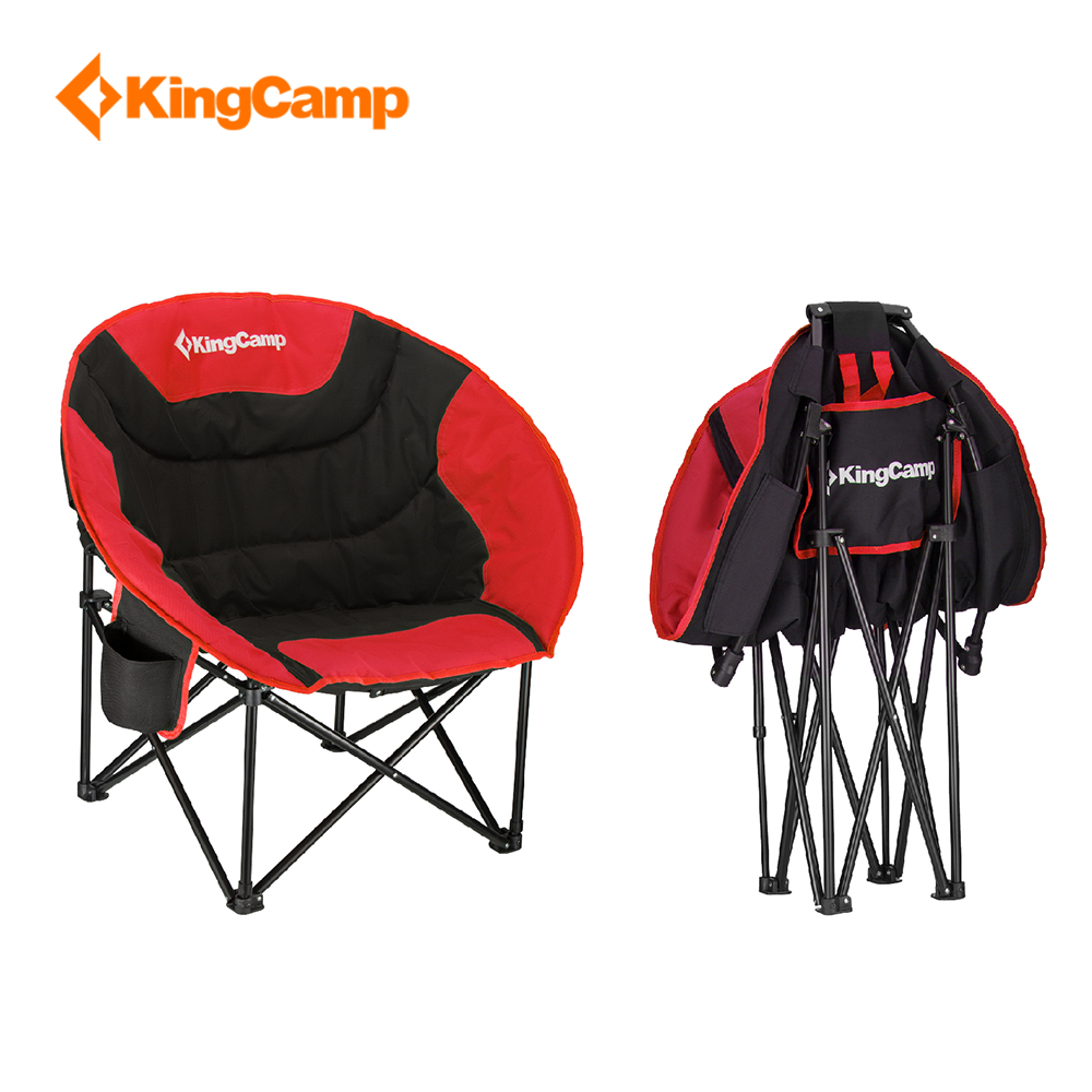 Us 77 49 38 Off Kingcamp Portable Lightweight Folding Chair Stool Fishing With Mesh Cup Holder For Camping Hiking Carry Bag Included Camping In