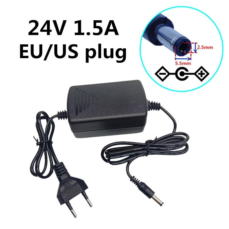 2 Pin EU Plug AC//DC 9V 1.5A 1500mA Power Supply Cord Adapter 5.5mm x 2.1mm