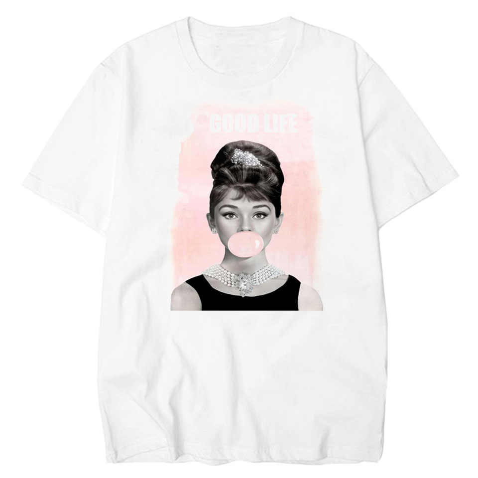 d9d041b9aa7 Detail Feedback Questions about LettBao Good Life T shirt Women Audrey  Vintage Streetwear Funny T Shirts Fashion Harajuku Tee Shirt Homme Tops  Casual Tshirt ...