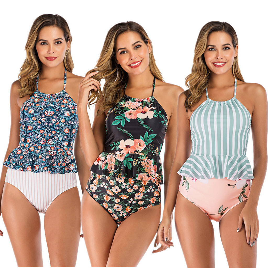2019 Sexy Bikini Set Women Tankini Sets With Shorts Ladies Bikini Set Swimwear Push-Up Padded Bra Brazilian Biquini bikinis(China)