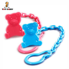 cute random color Baby multi-functional fixed Nipple clip plastic infant Anti-drop teether chain Portable Pacifier Holder Chain(China)