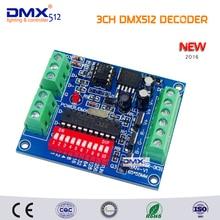 Горячая Распродажа Лучшая цена постоянное напряжение 5-24 в выход 3 канала DMX512 светодиодный декодер контроллер использовать для Светодиодный свет полосы