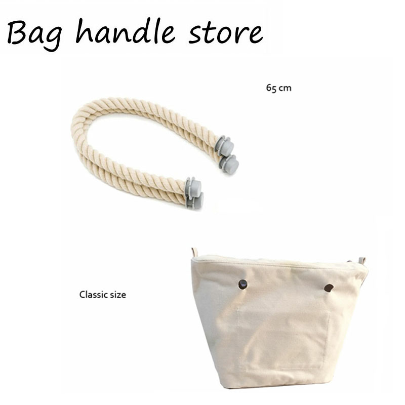 1 unids forro de lona interior bolsa de inserción conjunto para bolso clásico EVA silicona O bolso grande bolso totebag 2017
