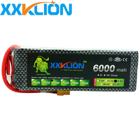 XXKLION 4S Lipo Battery 14.8V 6000MAH 30C RC Remote Control Helicopter Aerial photography Remote control car Model Battery