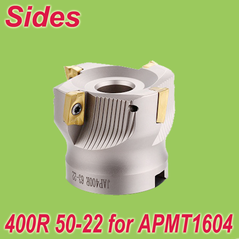 Free Shiping Two Colors 400R 50-22-4T 90 Degree Right Angle Shoulder Face Mill Head for APMT1604