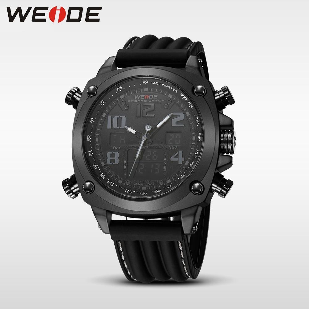 WEIDE top brand luxury sport watch Multiple Time Zone relogio masculino esportivo relogio masculino digital clock in Digital Watches from Watches