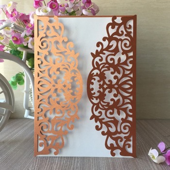 100pcs Laser Cut Pearl Paper with shimmerThank you Decoration Wedding Birthday Party Invitations Card Greeting Blessing card