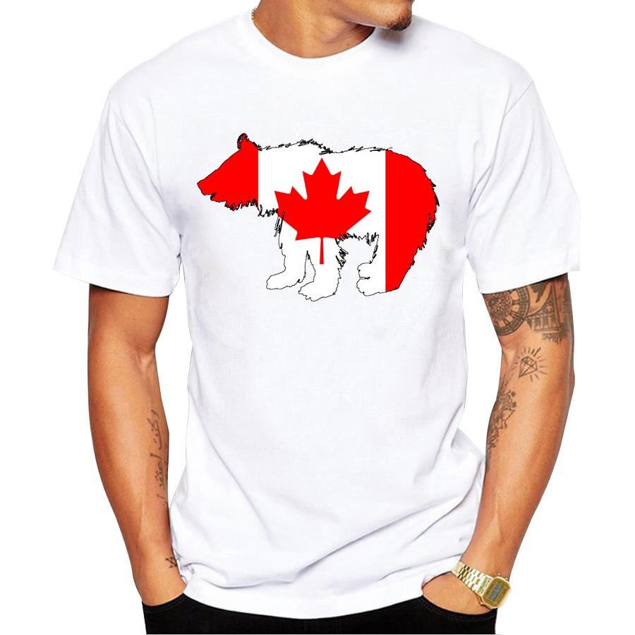 Design t shirt online canada - 2017 New Mens T Shirt Fashion Canada Bear Design T Shirt Short Sleeve Hipster Tops