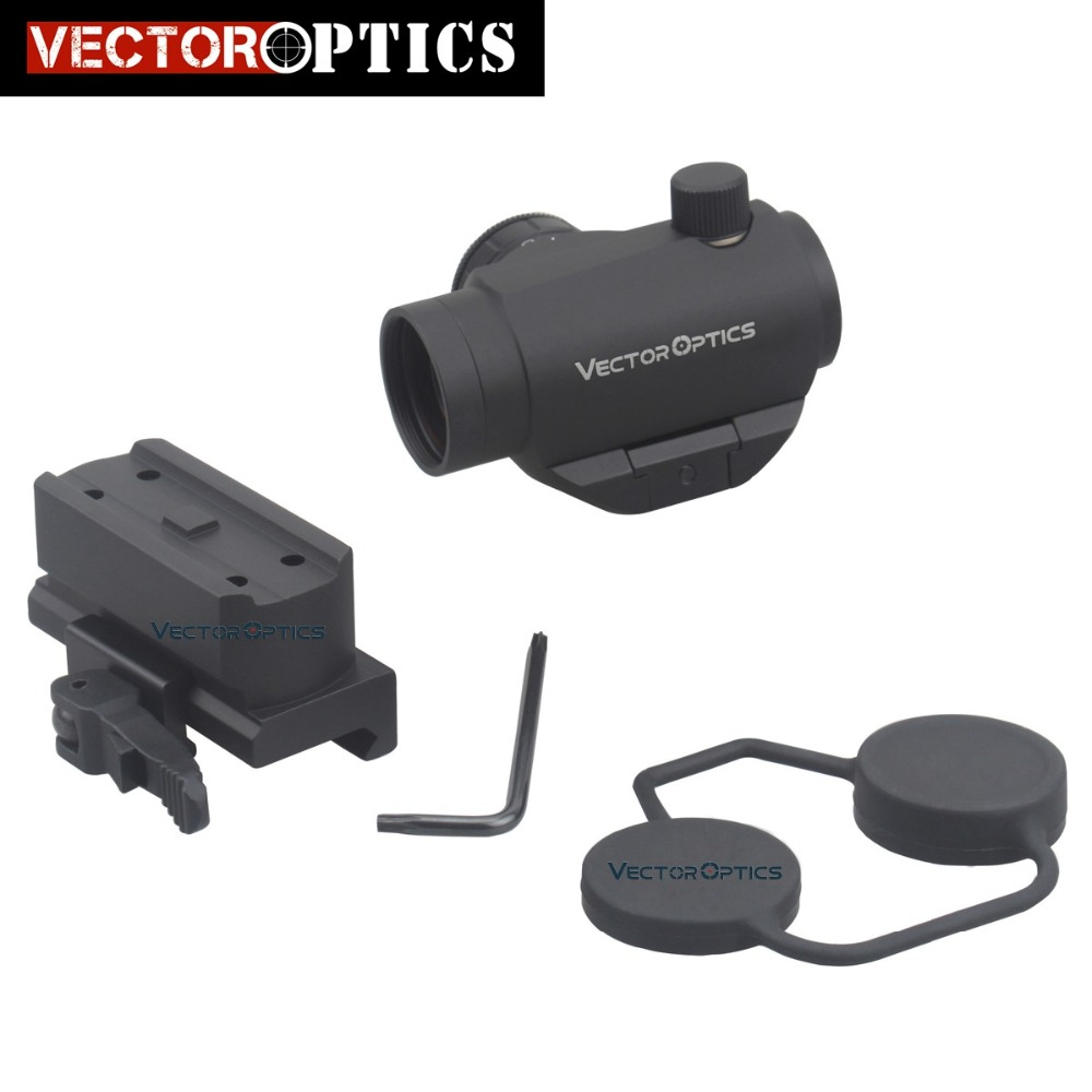 Vector Optics Compact Mini 1x22 QD Riser Reflex Red Dot Gun Sight Scope fit 12GA AK 5.56 AR .223 Picatinny Rail Free Shipping vector optics mini 1x20 tactical 3 moa red dot scope holographic sight with quick release mount fit for ak 47 7 62 ar 15 5 56