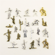 Charms For Jewelry Making Olympic Gymnastics Boating Basketball Player  Accessories Parts Creative Handmade Birthday Gifts