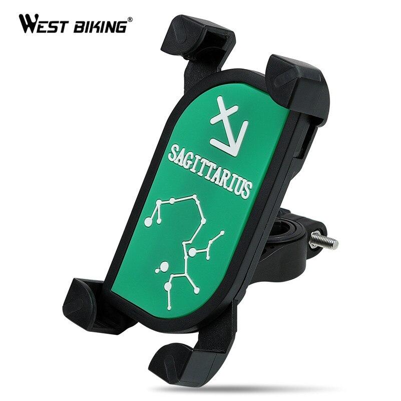 Запад biking Универсальный велосипедов телефон стенд 360 градусов вращающийся руль клип кронштейн зодиака Android-смартфон держатель
