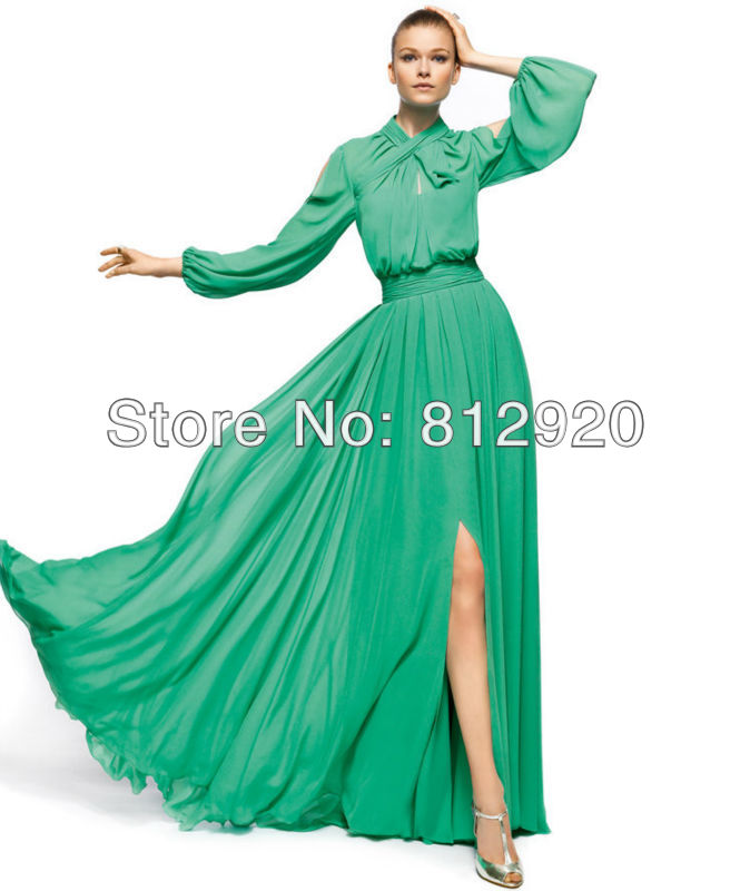 Popular Long Sleeve Semi Formal Dresses-Buy Cheap Long Sleeve Semi ...