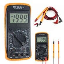 DT-9205A AC/DC Digital Multimeter Volt Amp Ohm Temperature Tester Temperature Current Meter Handheld LCD Display Multimetro