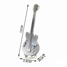 3pcs/lot 3D Metal Puzzles Bass DIY Model Musical Instrument Band Toys High Quality With Retail Box Education Toys 12*3.8*3.8cm