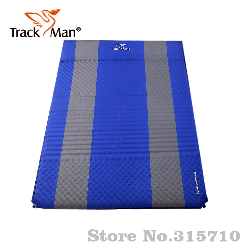 Trackman 2Person Outdoor Self-Inflating Sleeping Pad with Pillow Camping Tent Mat Travel Moisture-proof Mat width thick mat