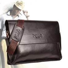 Genuine 2016 Casual Briefcase Business Shoulder Leather Bag Men Messenger Computer Laptop Handbag Men's Travel