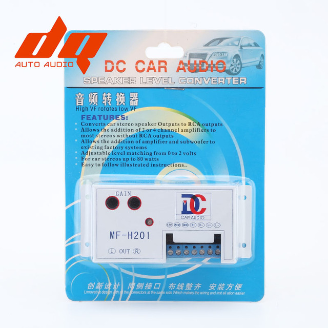 Aliexpress.com : Buy Car Speaker to RCA Level Adaptor High to Low ...