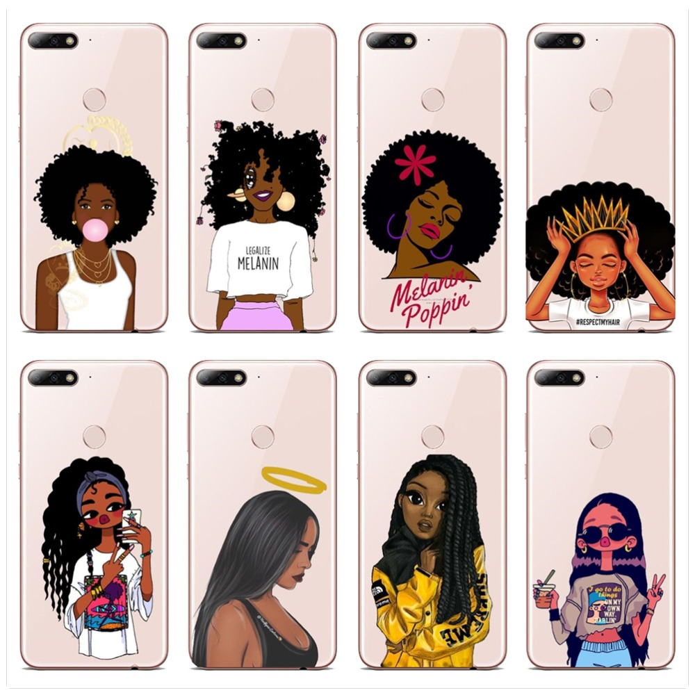 Frugal 2bunz Melanin Poppin Aba Phone Case For Huawei P8 P9 P10 P20l P10 P20plus Fashion Black Girl Soft Tpu Transparent Phone Cover Boys' Clothing (newborn-5t) Sleepwear