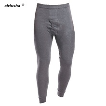 Long Johns Warm Pants Male Single Pant for Autumn and Winter Size from L-5XL Suits Everyone Cotton for Weight to 100 kg S23 cheap Spandex Cotton Polyester siriusha Tall waist Middle Simple Thin section