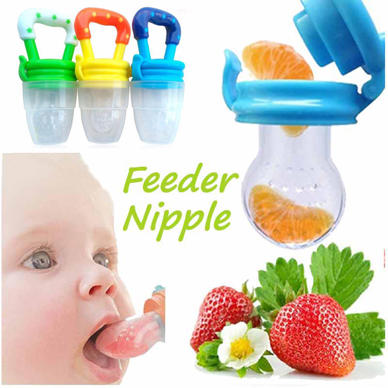 Fresh Fruit Food Baby Nipple Feeding Safe Fruit Feeder Nipples Feeding For Infant Supplies Nipple Teat Pacifier Bottles