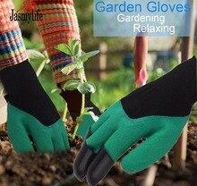 Gardening Gloves Rubber Polyester Builders Garden Work Latex Gloves four ABS Plastic Claws Safety Work Gloves Builders Grip