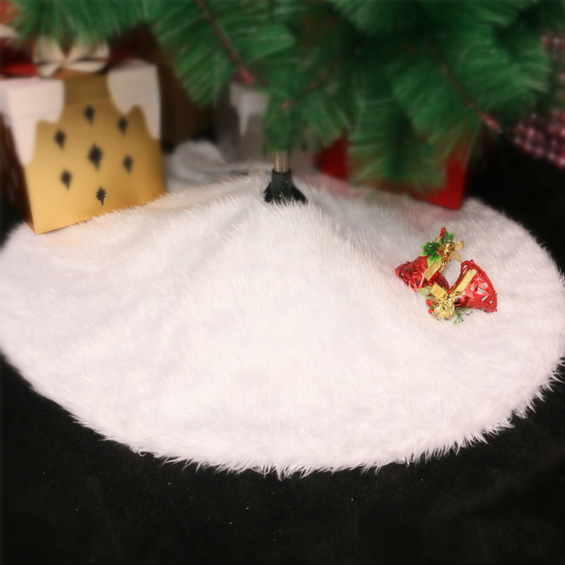 Christmas Tree Skirt New Year Decorations For Home White