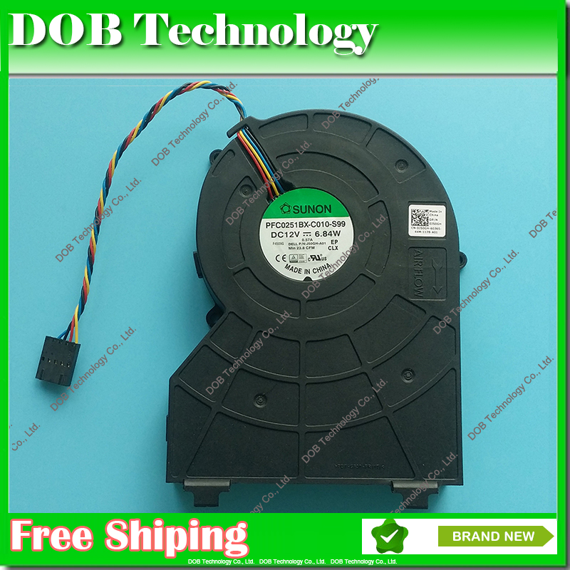 PVB120G12H-P01 J50GH-A00 ,J50GH 0J50GH 12V 0.75 4Wire For DELL OptiPlex 790 390 990 SFF CPU Fan Cooling Fan