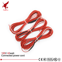 12K 33ohms Connected Electric Wire 20m Teflon Infrared Underfloor Heating Cable System Carbon Fiber Wire Electric