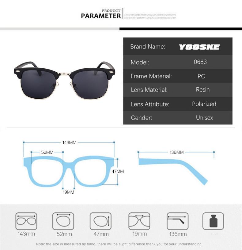 HTB1QDrrawnH8KJjSspcq6z3QFXaH - YOOSKE Classic Polarized Sunglasses Men Women Retro Brand Designer High Quality Sun Glasses Female Male Fashion Mirror Sunglass