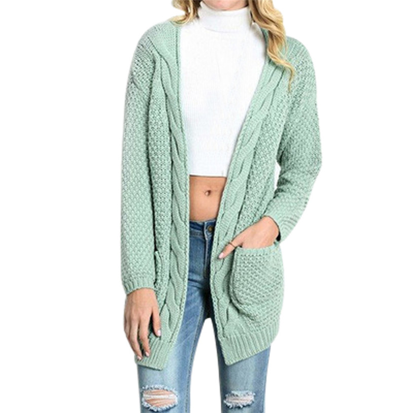 2020 #  Womens Knitted Sweater Autumn Winter Women Long Sleeve Loose Acrylic Sweater Female Cardigans Casual FemmeClothes