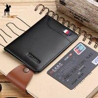 WILLIAMPOLO для мужчин s бумажник тонкий бизнес для кредитной карты держатель для карт кошелек из натуральной яловой кожи Модные повседневное ми...