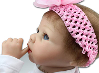 Silicone reborn baby dolls toy lifelike kids birthday gift